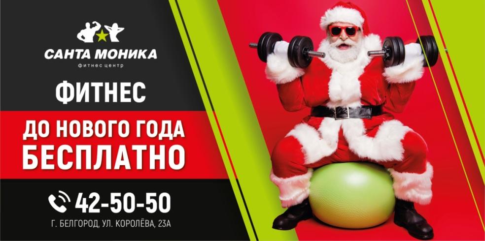 Занятия фитнесом до нового года — бесплатно!